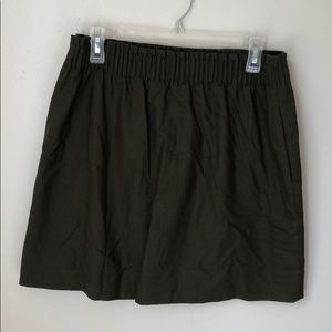 J Crew Olive Pencil Skirt